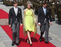Prince Louis and Princess Tessy and Prince Felix from Luxembourg arrive at the Te Deum at the Luxembourg Cathedral on National Day on June 23, 2009 in Luxembourg, Luxembourg.