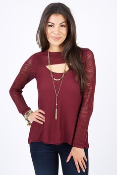 The Carolina Scoop Sweater is a great way to show some skin comfortably.