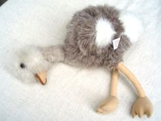Vintage Baby Ostrich by DollsInARow on Etsy