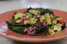 Protein Rainbow Kale Salad- A Nutripy Original Recipe Kale Salad, Original Recipe, Sprouts, Protein, Yummy Food, Rainbow, The Originals, Vegetables, Healthy