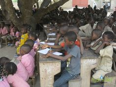 Over 400 students from Awatame School in Togo actively participate in hygiene training.