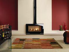 Gazco Riva Vision Large Gas Stove - modern - fireplaces - manchester UK - HotPrice.co.uk
