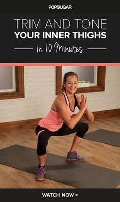 The Ultimate Inner-Thigh Workout .This workout definitely raised my heart rate … The Ultimate Inner-Thigh Workout .This workout definitely raised my heart rate and had me feeling the burn! Thigh Toning Exercises, Toning Workouts, Fitness Workouts, Fitness Diet, At Home Workouts, Health Fitness, Best Inner Thigh Workout, Stomach Exercises, Inner Thigh Toning