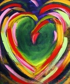 Abstract Wedding Day Heart Painting by Texas Artist Laurie Pace, painting by artist Laurie Justus Pace I Love Heart, Peace And Love, Flower Quotes Love, Art Painting Gallery, Heart Painting, Heart Wallpaper, Rainbow Colors, Art Lessons, Heart Shapes