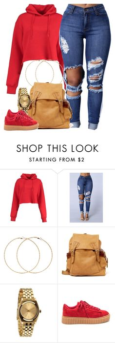 """""""1346 . Frank Ocean - Thin Line"""" by cheerstostyle ❤ liked on Polyvore featuring Boohoo, Forever 21, Sabrina Tach and Nixon"""