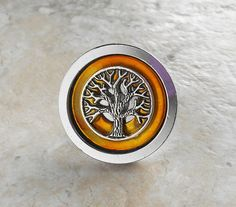 yellow kitchen decor decorative drawer pull by NatureWithYou