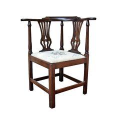 American Mahogany Corner Chair