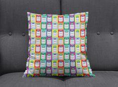 Rainbow cushion Rainbow home decor Bedroom cushions Sofa Bedroom Cushions, Cushions On Sofa, Throw Pillows, Window Design, Bed Design, Contemporary Cushions, Bright Homes, Cushion Inserts, Bath Decor