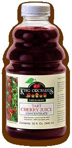 Montmorency tart cherry juice concentrate, order right from King Orchards Farm in Michigan. Full of good stuff, plus helps you sleep.
