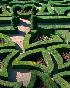The labyrinthine Love Gardens at Château de Villandry