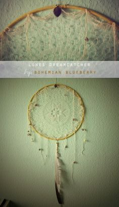 DIY: Boho dreamcatcher, would be neat to hang some necklaces as a dreamcatcher jewellery holder.