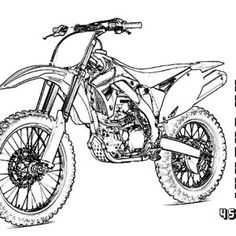 dirt bike rider jump high coloring page coloring sun