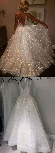 sparkly a-line long prom/evening dresses #prom #promdresses #prom2018 #eveningdress #eveningdresses #weddingdresses