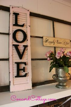 You don't have to make a large project out of upcycling an old shutter, just add some lettering and you have a nice accent piece! -Hometalk