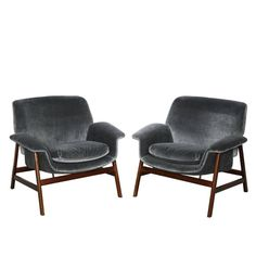 Gianfranco Frattini Lounge Chairs | From a unique collection of antique and modern lounge chairs at https://www.1stdibs.com/furniture/seating/lounge-chairs/