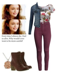 Emma Decody - Bates Motel by shadyannon on Polyvore featuring polyvore fashion style LE3NO H&M Refresh Claire Hart Design clothing
