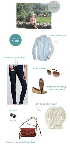 What to pack for Napa - Ally and Callie: The Other 128 Hours