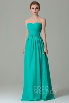 Simple+Sheath-Column+Sweetheart+Natural+Floor+Length+Chiffon+Teal+Sleeveless+Lace+Up-Corset+Bridesmaid+Dress+with+Pleating+COZF1500C