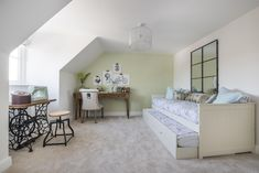 This bedroom has a airy feel to it due to its crisp white walls and lots of natural light. Long Melford, New Homes For Sale, White Walls, Natural Light, Crisp, Toddler Bed, Interiors, Bedroom, Furniture