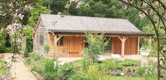 Oak Frame Garden Annexe with full length Veranda   Radnor Oak