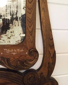 antique mirror with an acid technique that also has a love story , crafts, repurposing upcycling, wall decor