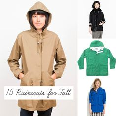 Raincoat Round-Up: 15 Favorites for Fall!