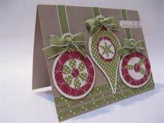 cricut Christmas card with ornaments