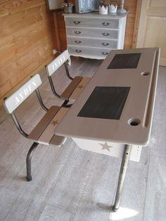 painting ideas for our vintage school desk from olp desk vintage design pinterest school desks vintage school and desks