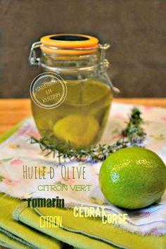 Huile d'olive aromatisée citron, citron vert, cédrat et romarin pour marinade à la plancha chez Kaderick en Kuizinn©