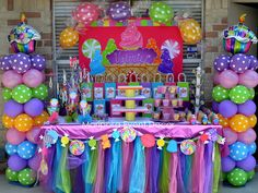 Terri B's Birthday / Candyland - Photo Gallery at Catch My Party Candy Themed Party, Candy Land Theme, Birthday Candy, 2nd Birthday Parties, Candy Land Party, Birthday Ideas, Theme Parties, Birthday Pictures, Mouse Parties