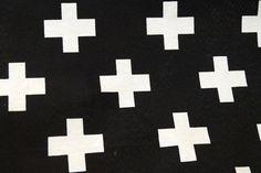 NB 1102-069 Interieurstof Cross zwart/wit