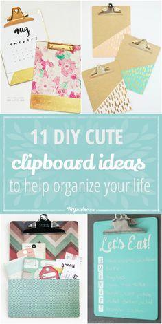 11 DIY Cute Clipboard Ideas to Help Organize Your Life-jpg