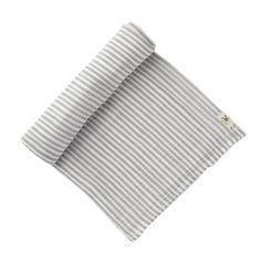 Grey Stripe Swaddle Blanket