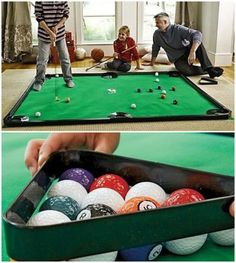 Man Cave Essentials: Indoor Golf Pool Game #mancave #homedecor #bachelor #pool