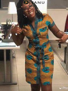 (notitle) at Diyanu Short African Dresses, Latest African Fashion Dresses, African Print Dresses, African Print Fashion, Africa Fashion, Latest Fashion, Fashion Trends, Moda Afro, Ankara Dress Styles
