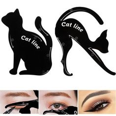 1 set = 2 pcs x Cat Eyeliner Card. 6 pcs x Cat Eyeliner Card. Use your eye shadow first to create the shape then set the look with liquid eyeliner or your eye pencil. Cat Eyeliner Card Size: 7 x cm, x cm. Winged Eyeliner Stencil, Double Winged Eyeliner, Cat Eye Eyeliner, Eyeliner Shapes, Bold Eyeliner, Eyebrow Stencil, Simple Eyeliner, Cat Eyes, Eye Liner