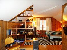 knotty-pine-bedroom-attic