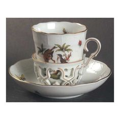 Herend Rothschild Bird (Ro) Trembleuse Cup, Hungary...............d