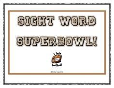 Free!! Sight word super bowl!!