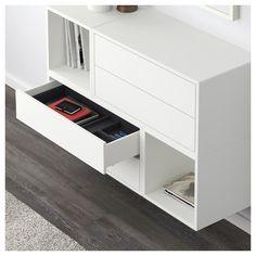 EKET wall unit combination – white / light gray / dark gray – IKEA Source by Cube Ikea, Ikea Eket, Ikea Wall Cabinets, Ikea Wall Units, New Furniture, Furniture Design, Furniture Removal, Luxury Furniture, Flexible Furniture