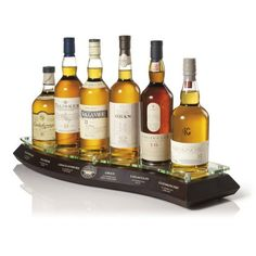 Classic Malts of Scotland - Dalwhinnie (Highland), Talisker (Skye), Cragganmore (Speyside), Oban (West Highland), Lagavulin (Islay), and Glenkinchie (Lowland)