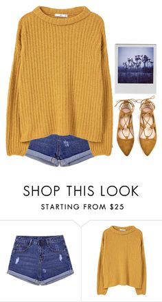 """-"" by emilypondng ❤ liked on Polyvore featuring MANGO and Polaroid"