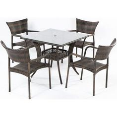Brayden Studio Cowling 5 Piece Dining Set