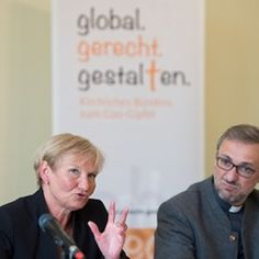 Press conference of the church alliance of the G20 summit in Hamburg, Germany