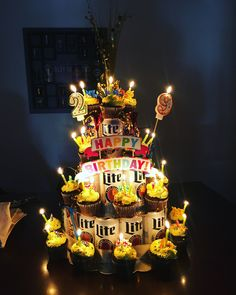 Beer Birthday Cake I made for my husband! Birthday Wishes, Birthday Ideas, Happy Birthday, Birthday Cake, Husband, Beer, Gift Ideas, Gifts, Food