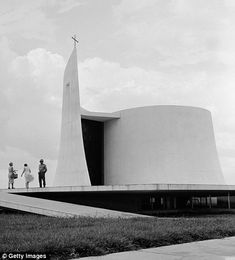 Church in the grounds of the presidential palace in Brasilia, Federal Capital, Brazil.