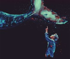 Exo Fanart Sehun and the Whale by bubble-min
