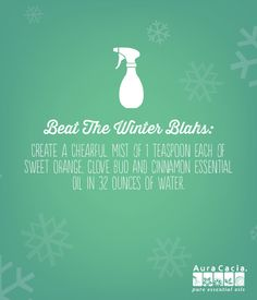 Mix up this cheery winter spray to lift your spirits! #DIY #EssentialOils