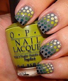 Polka Dot Nail Art. Would be cute on one nail