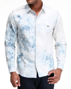 L!Ve L/S Denim Shirt by Lacoste Live
